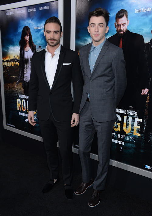 Joshua Sasse and Matthew Beard at the California premiere of