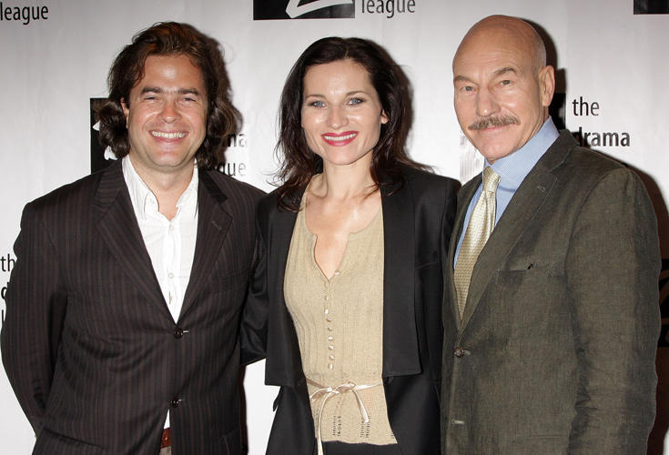Director Rupert Goold, Kate Fleetwood and Patrick Stewart at the 74th Annual Drama League Awards Ceremony in New York.