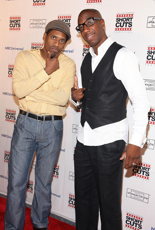 Al Thompson and JB Smoove at the premiere of