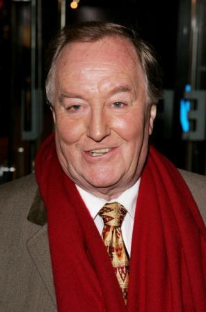 Robert Hardy at the London premiere of