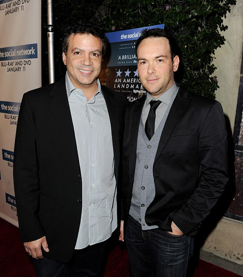 Michael De Luca and Dana Brunetti at the Blu-ray & DVD launch party of