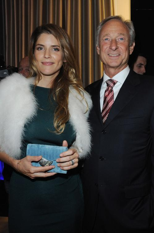 Alice Taglioni and Lutz Bethge at the Montblanc Paris Flagship Boutique Launch - Inauguration Cocktail party.