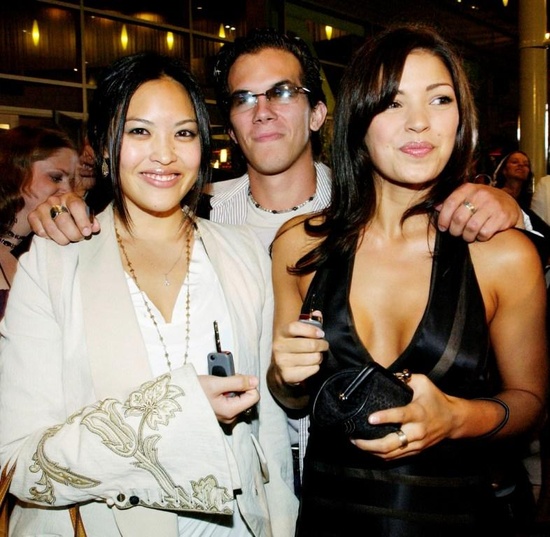 Kristy Wu, Jesse Janzen and Sandra McCoy at the premiere of