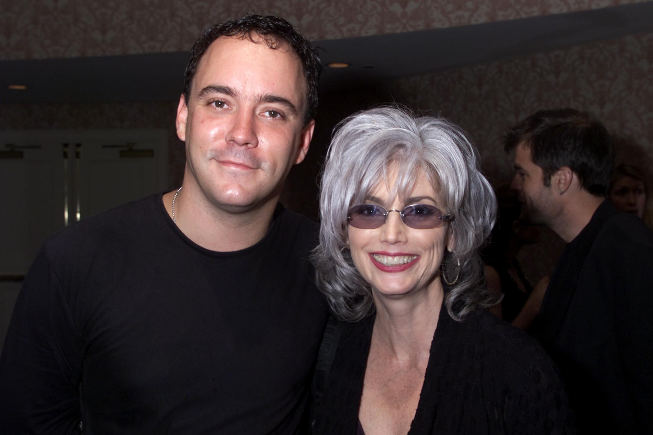 Dave Matthews and Emmylou Harris at the Songwriters Hall of Fame 32nd Annual Awards.