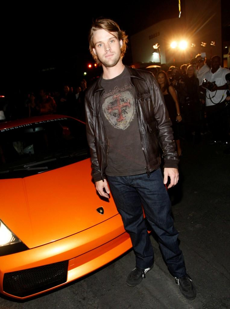 Jesse Spencer at the grand opening of Lamborghini Calabasas.
