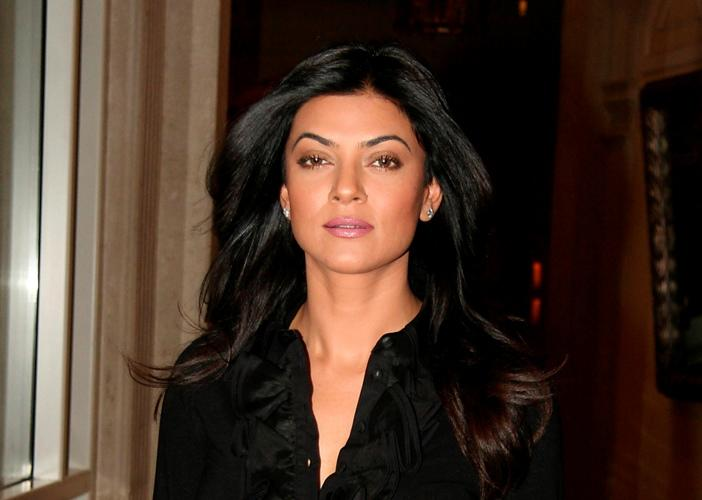 Sushmita Sen at the Percept Excellence Awards ceremony.