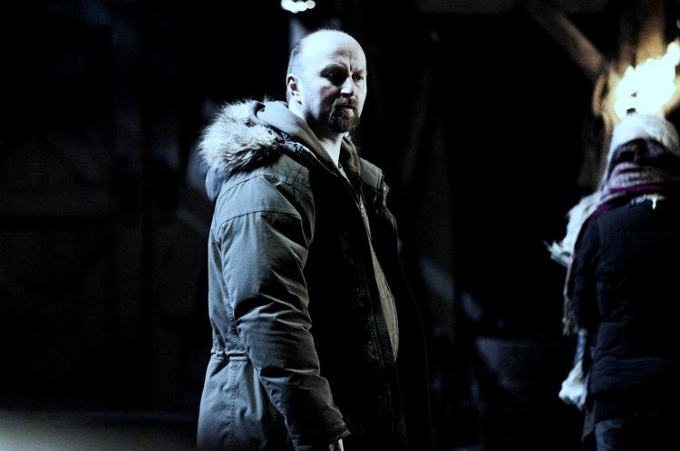 Director Neil Marshall on the set of