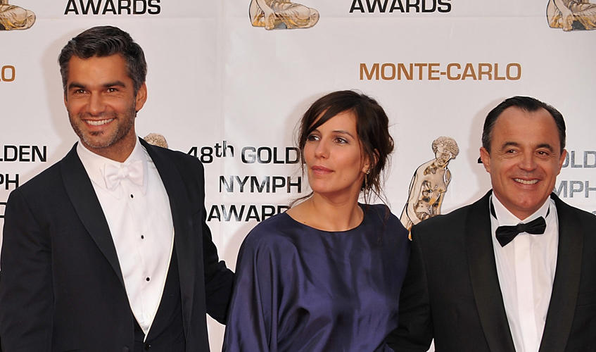 Francois Vincentelli, Zoe Felix and Marc Rioufol at the Monte Carlo Television Festival 2008 Day 5.