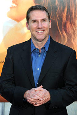 Writer Nicholas Sparks arrives for the premiere of 'The last song' in Hollywood, California on March 25, 2010.
