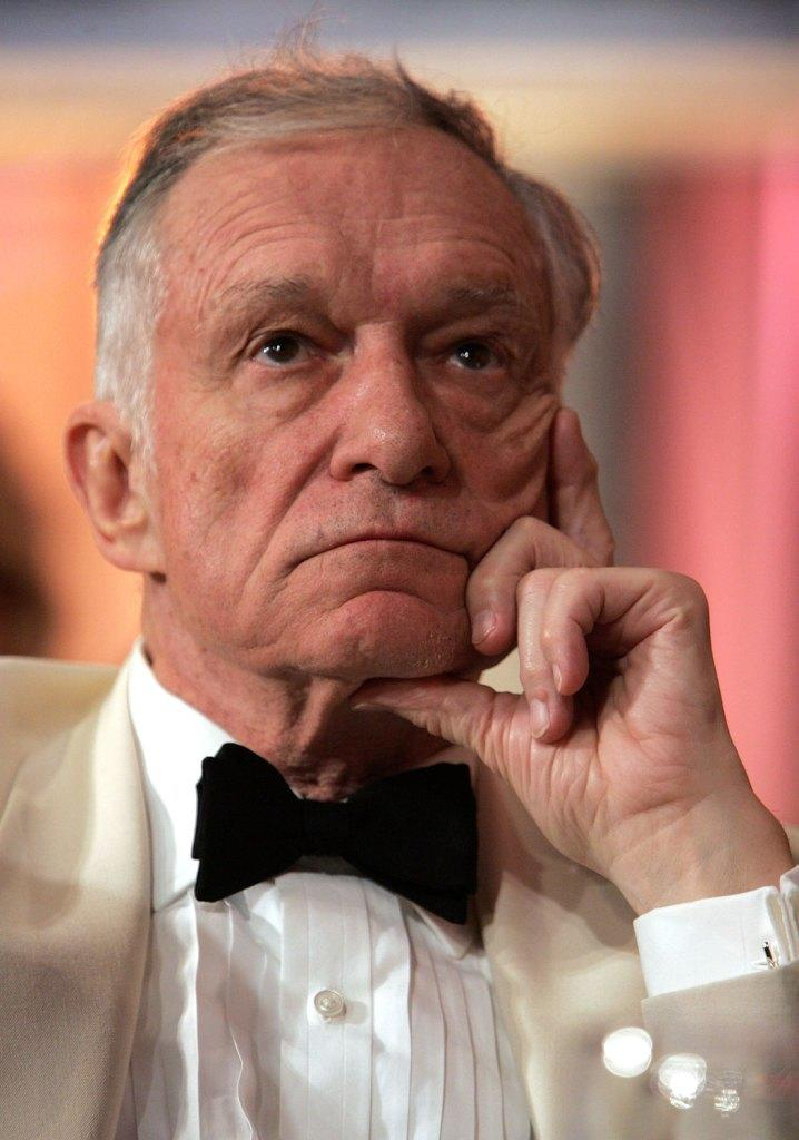 Hugh Hefner at the 34th AFI Life Achievement Award tribute to Sir Sean Connery.