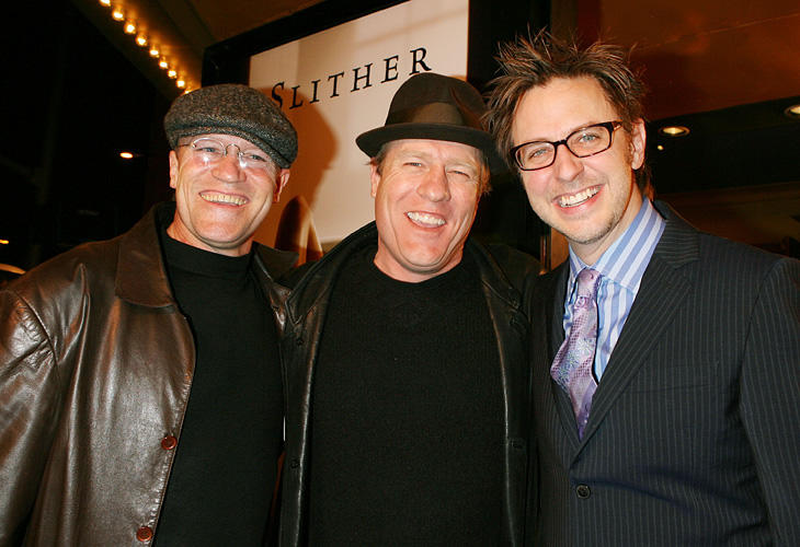 Michael Rooker, Gregg Henry and director James Gunn at the California premiere of