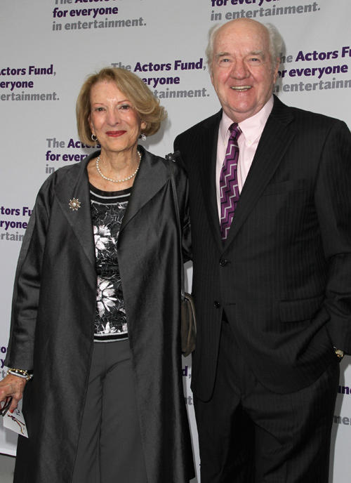 Patricia Herd and Richard Herd at the Actors Fund's 15th Annual Tony Awards Party in California.