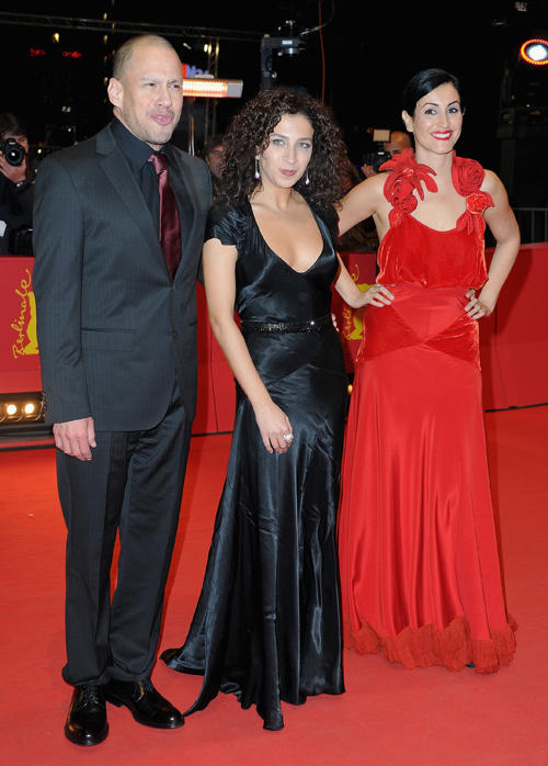 Director Jonathan Sagall, Clara Khoury and Nataly Attiya at the premiere of