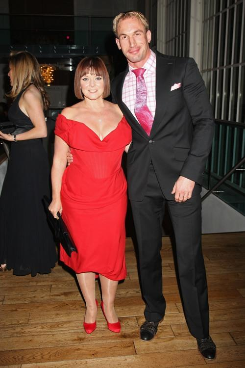 Finty Williams and Dr. Christian Jessen at the Collars and Cuffs Ball.