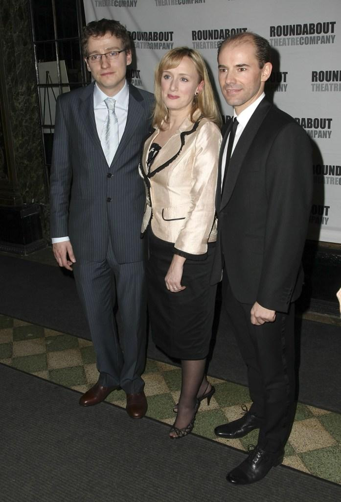 Sam Buntrock, Jenna Russell and Daniel Evans at the opening night of