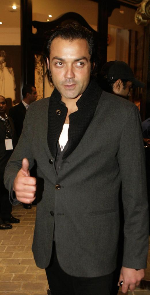 Bobby Deol at the Shilpa Shetty's birthday party.