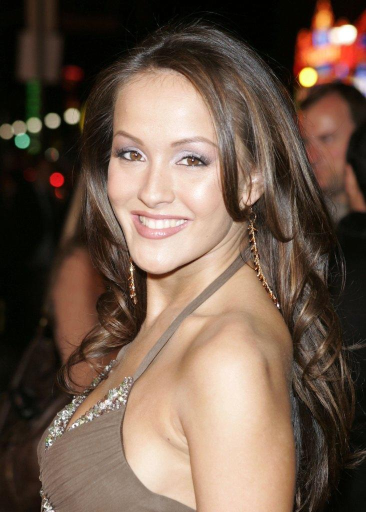 Crystal Lowe at the premiere of