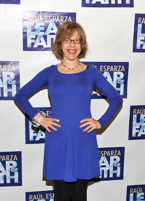 Jackie Hoffman at the Broadway opening night of