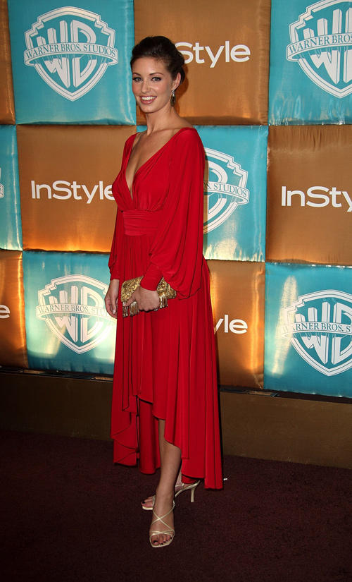 Bianca Kajlich at the after party of In Style Magazine and Warner Bros. Studios Golden Globe in California.