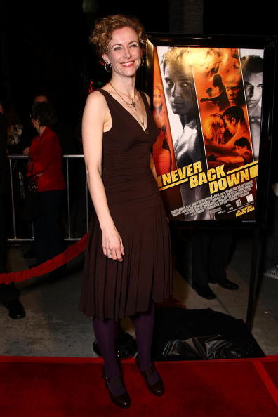 Actress Leslie Hope at the Hollywood premiere of