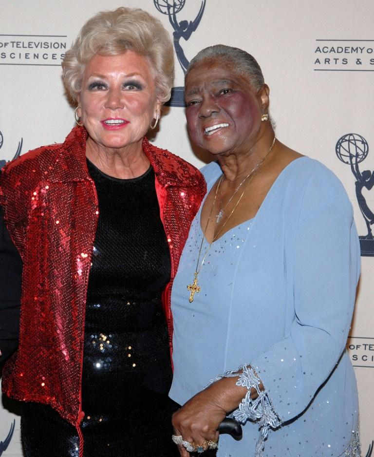Mitzi Gaynor and Linda Hopkins at the premiere of