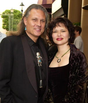 Michael Horse and Saundra at the Multicultural Motion Picture Association's Eighth Annual Diversity Awards.