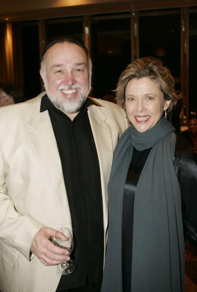 Lyle Kanouse and Annette Bening at the after party of