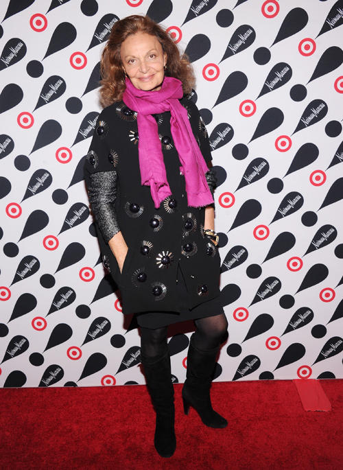 Diane Von Furstenberg at the Target and Neiman Marcus Holiday Collection launch event.