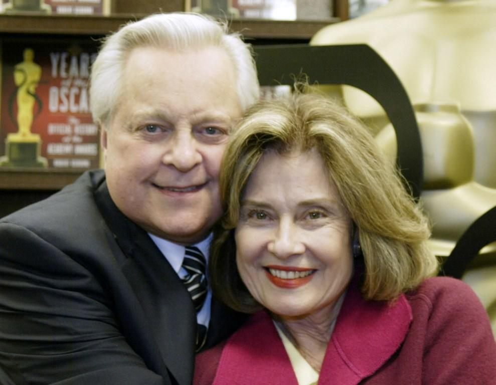 Robert Osborne and Diane Baker at the book signing of