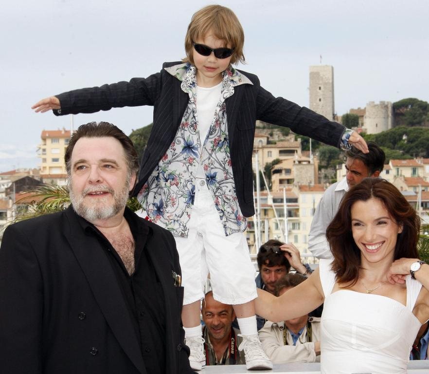 Patrick Descamps, Max Baissette de Malglaive and Aure Atika at the photocall of