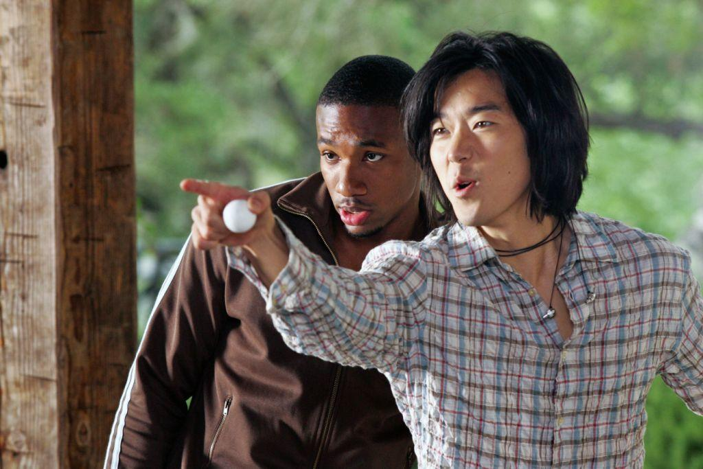 Arlen Escarpeta as Lawrence and Aaron Yoo as Chewie in