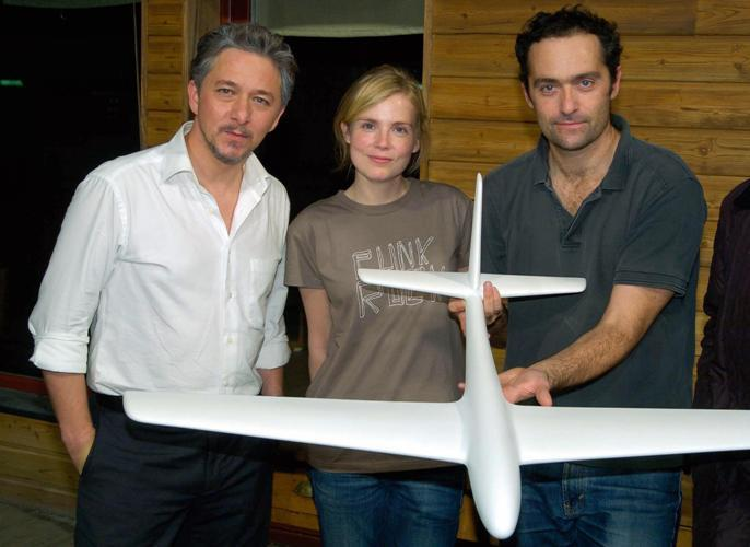Nicolas Briancon, Isabelle Carre and Cedric Kahn at the presentation of