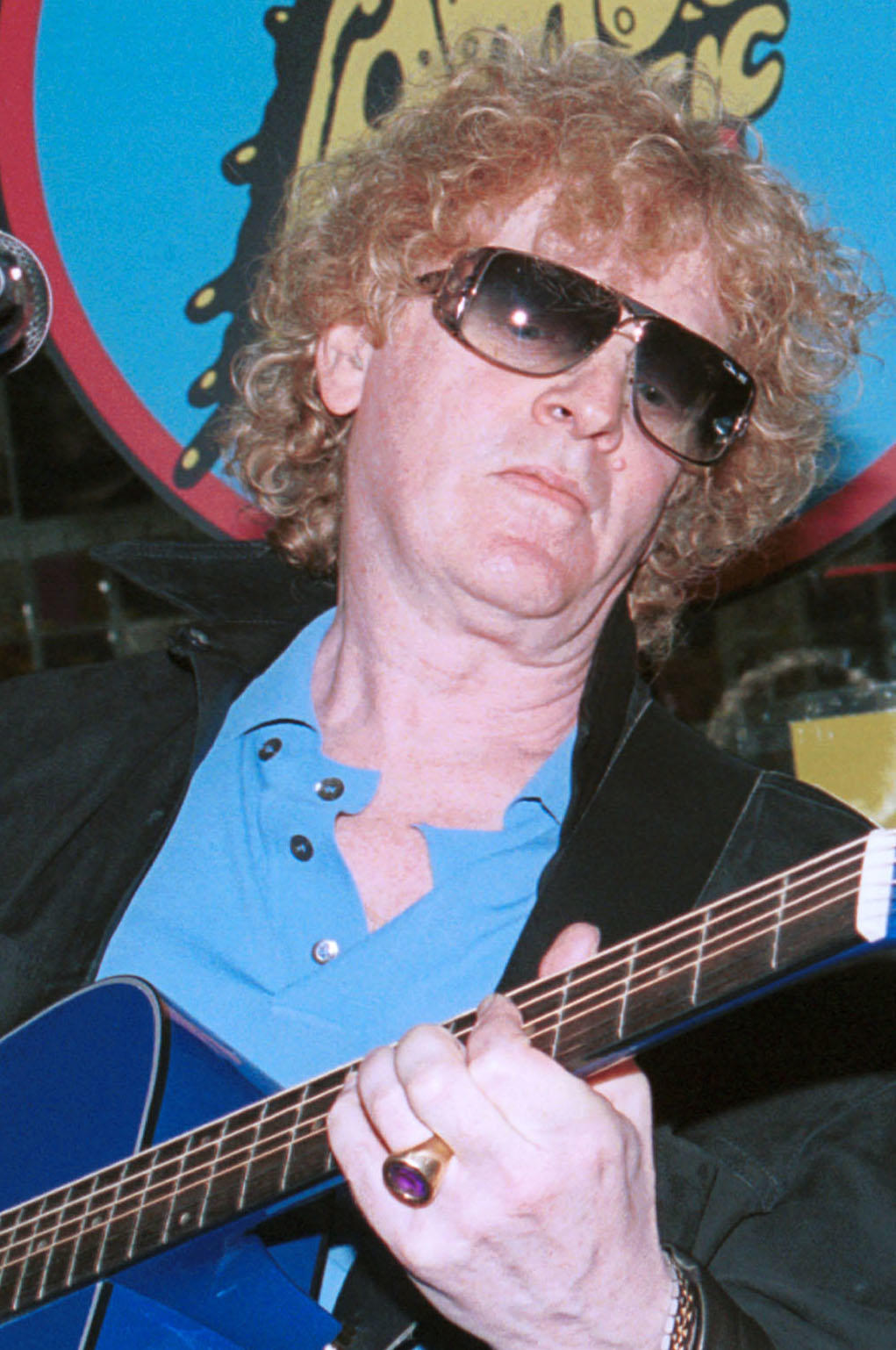 Ian Hunter performs at the Amoeba Music store in Hollywood.