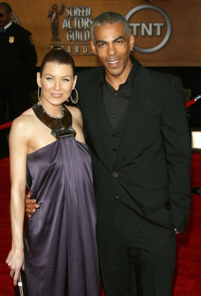 Ellen Pompeo and Christopher Ivery at the 13th Annual Screen Actors Guild Awards.