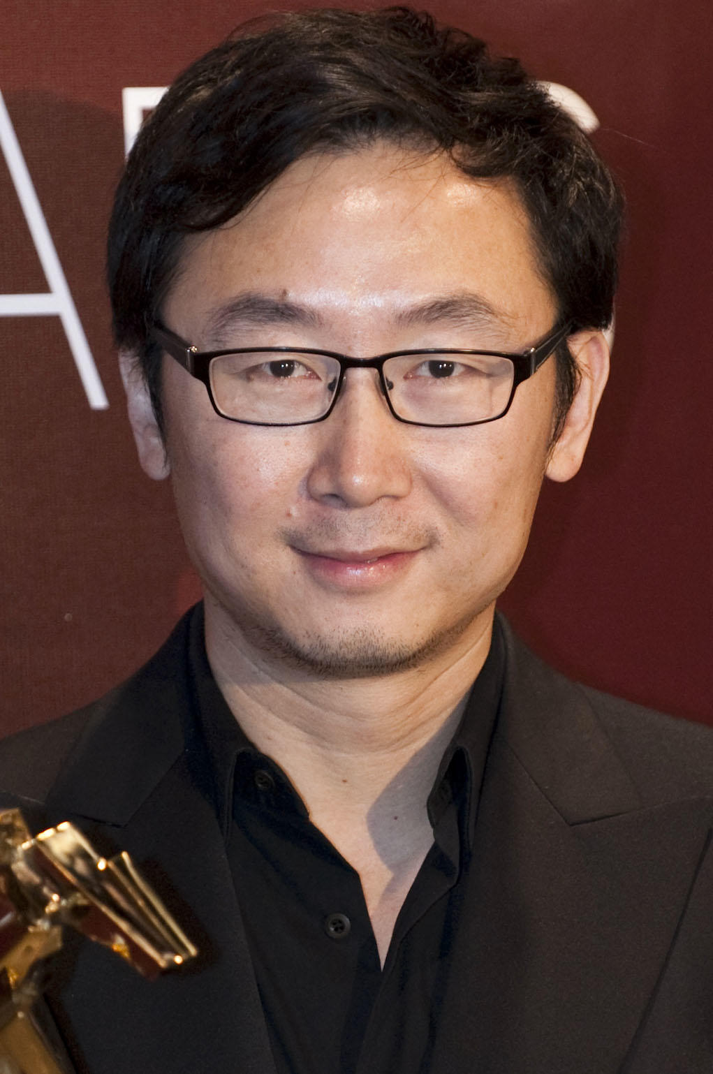 Lu Chuan during the 4th Asian Film Awards ceremony in Hong Kong.