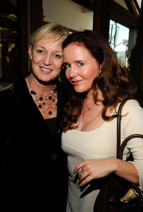 Claire Chapman and Siobhan Flynn at the UK Film Council US Post Oscars Brunch in California.