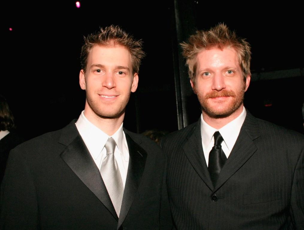 David Korins and Paul Sparks at the 49th Annual Drama Desk Awards.