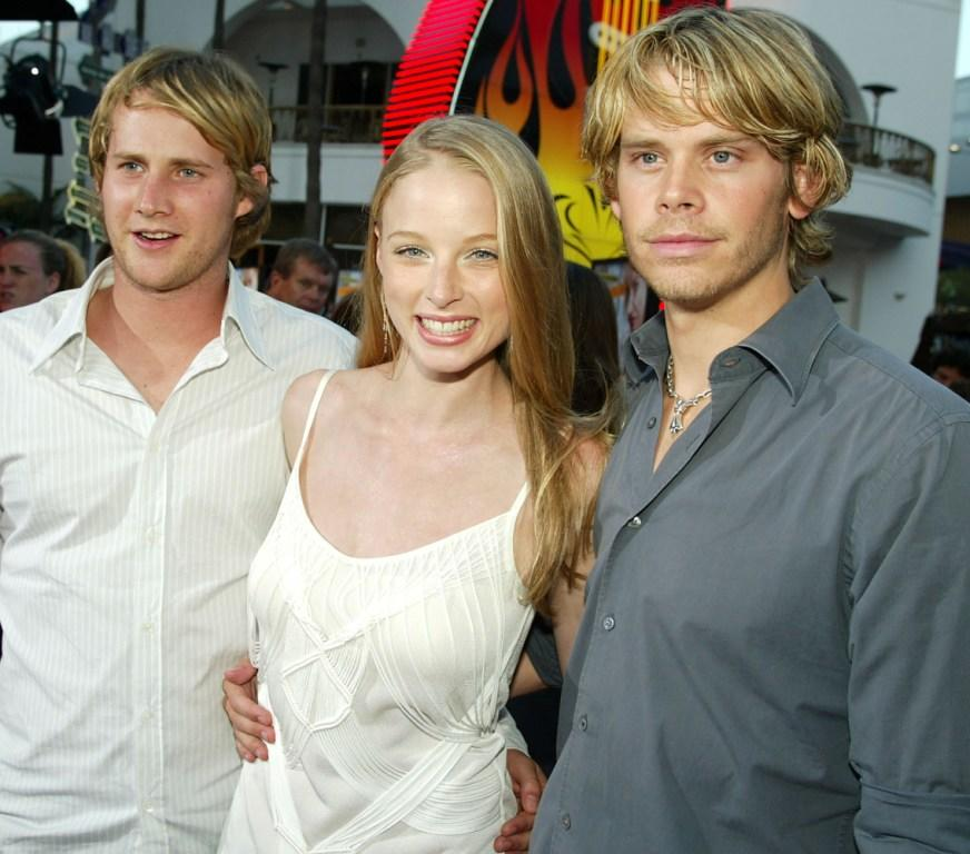 Derek Richardson, Rachel Nichols and Eric Christian Olsen at the premiere of