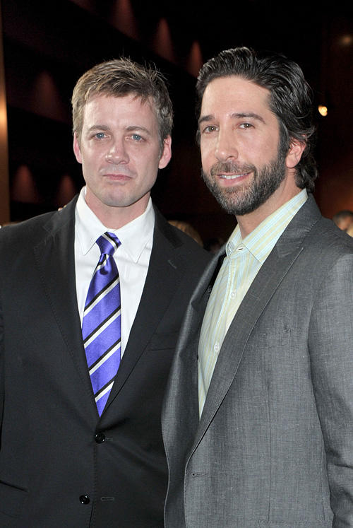Chris Henry Coffey and director/producer David Schwimmer at the California premiere of