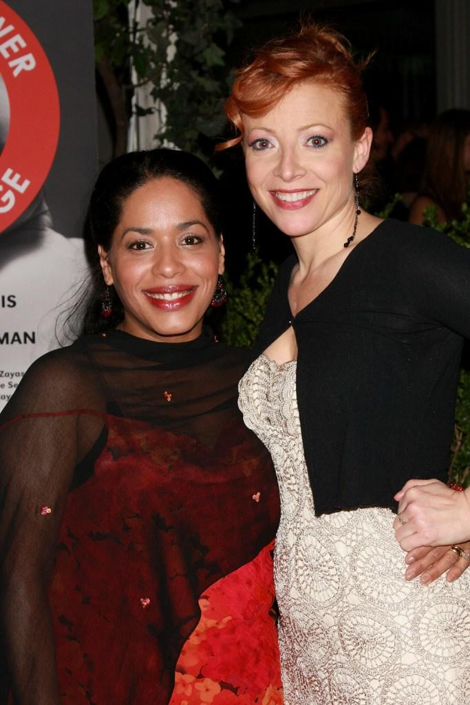 Liza Colon-Zayas and Elizabeth Canavan at the opening night party celebrating the world premiere of