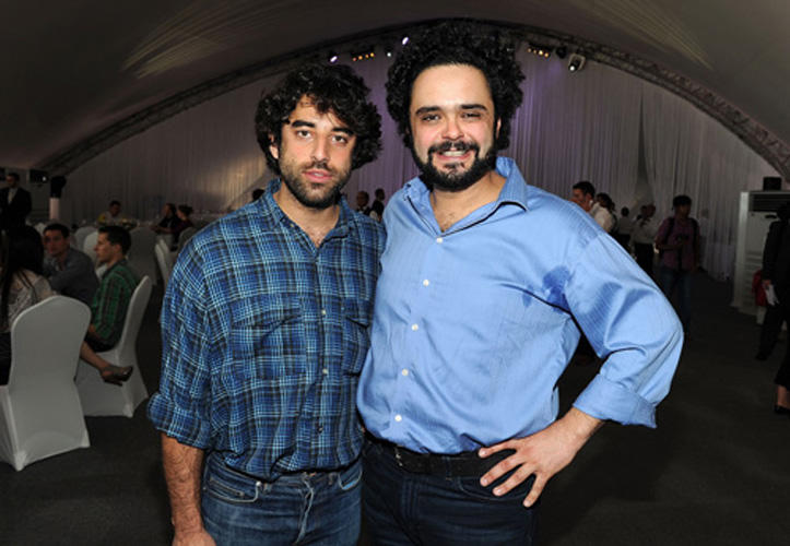 Karim Saleh and director Omar Naim at the welcome lunch during the 2010 Doha Tribeca Film Festival.