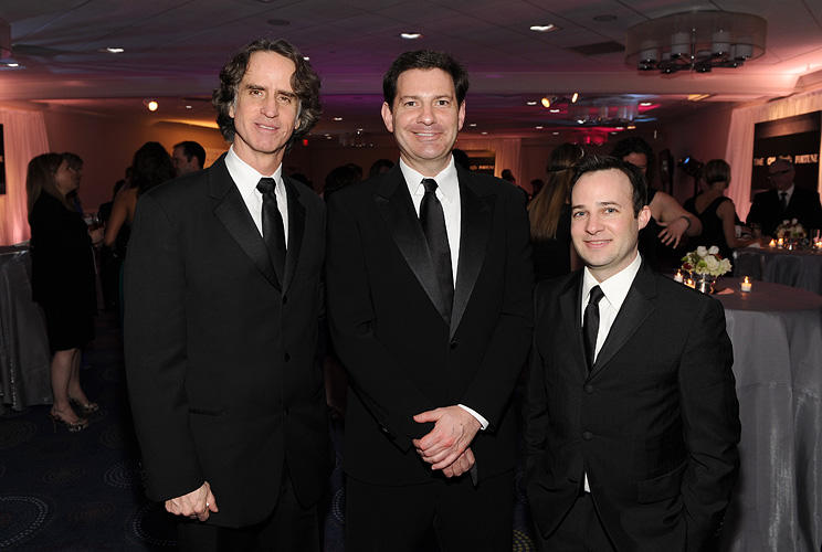Director Jay Roach, senior political analyst of TIME Mark Halperin and Danny Strong at the TIME/CNN/People/Fortune White House Correspondents' dinner cocktail party in DC.
