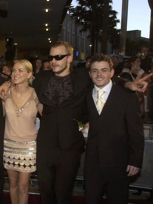 Naomi Watts, Heath Ledger and Laurence Kinlan at the Sydney premiere of