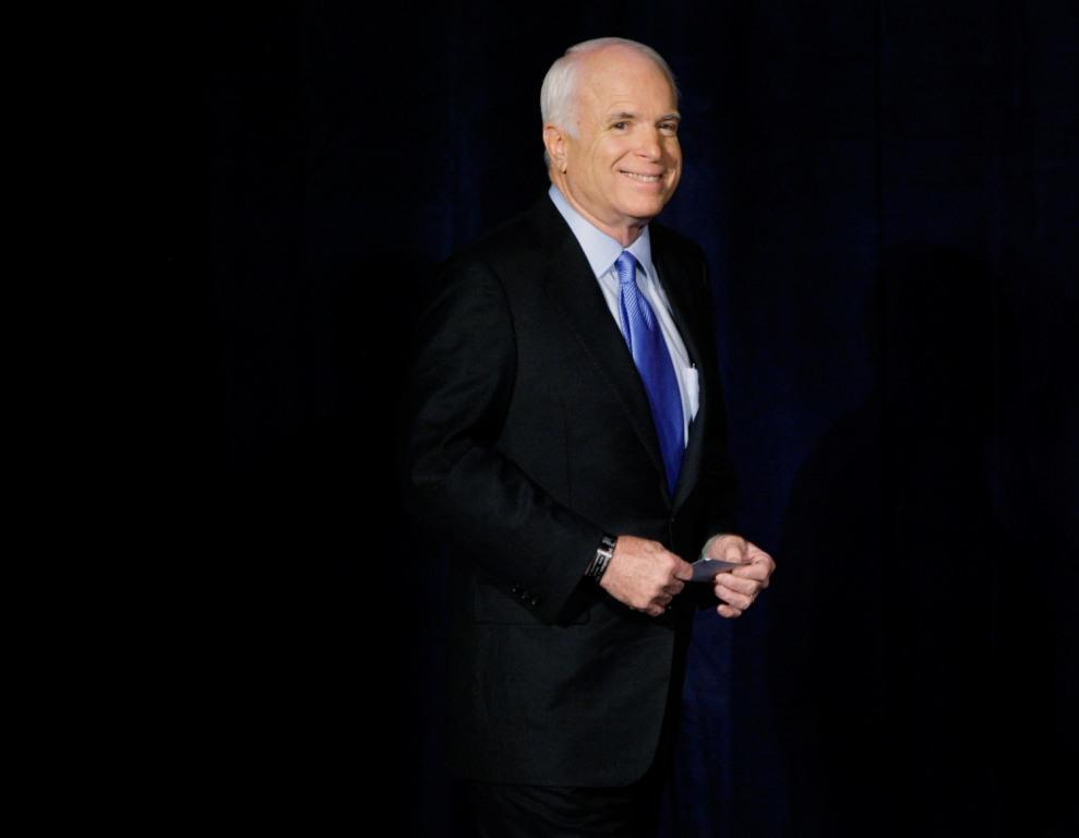 John McCain at the UNLV in Las Vegas.