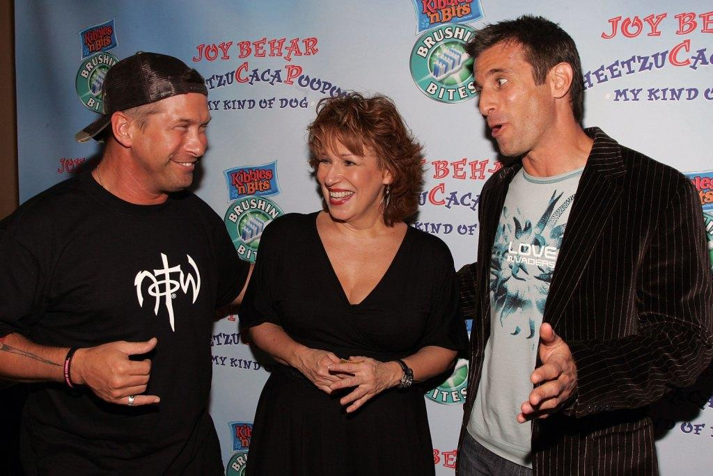 Stephen Baldwin, Joy Behar and A.J. Hammer at the launch party for Behar's new book