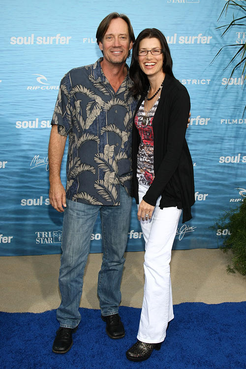 Kevin Sorbo and Sam Jenkins at the California premiere of