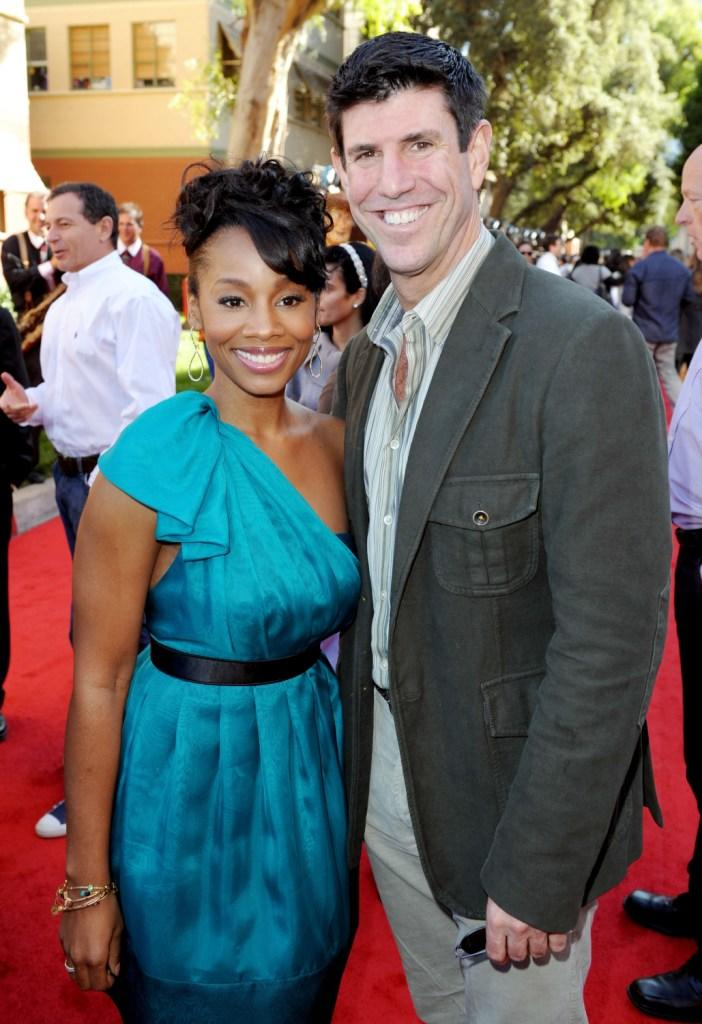 Anika Noni Rose and Rich Ross at the California premiere of