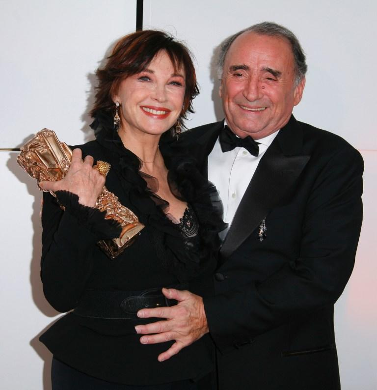 Marlene Jobert and Claude Brasseur at the 32nd Cesars Film Awards ceremony.