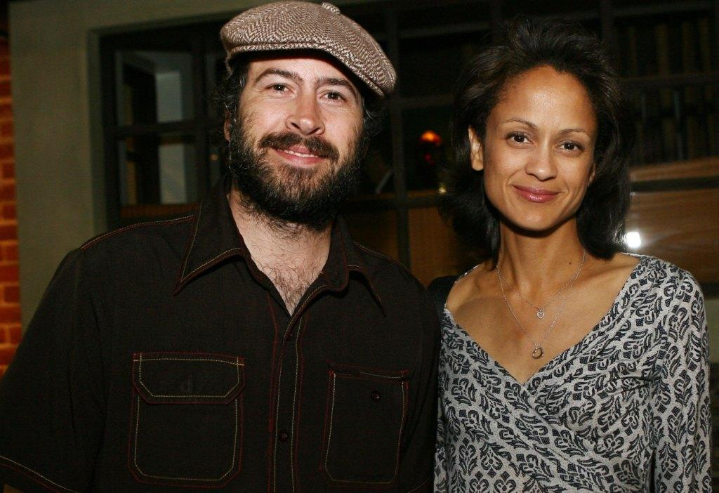 Anne-Marie Johnson and Jason Lee at the reception held by SAG and SAGIndie.