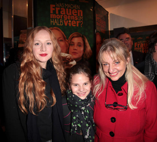 Brigitte Hobmeier, Emma Preisendanz and Johanna Bittenbinder at the Germany premiere of